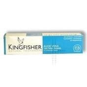 THREE PACKS of Kingfisher Natural Aloe Vear Tea Tree Fennel Fluoride Free Toothpaste 100ml