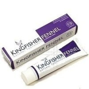 THREE PACKS of Kingfisher Natural Fennel Toothpaste Fluoride Free 100ml