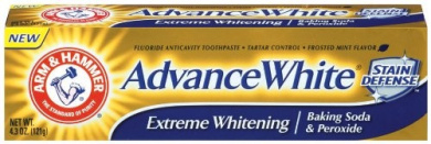 Arm & Hammer Advanced White Toothpaste, Dental Baking Soda & Peroxide, 130ml Tubes, Packaging May Vary, (Pack Of 6)