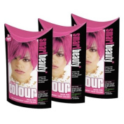 SMART COLOUR SEMI-PERMANENT NEON PINK HAIR COLOURING X 3