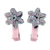 Children's sequin flower hair clips, gorgeous pink and silver sequins perfect for girls