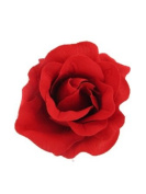 Pretty Cool - Red Rose Fabric Hair Flower Clip