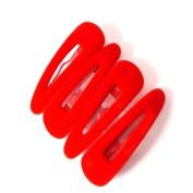 4 Red Velvet Hair Slides/Clips LP3301