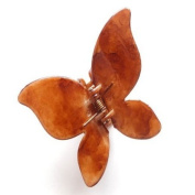 Brown Shiny Butterfly Plastic Hair Clamp IN4176