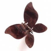 Dark Brown Shiny Butterfly Plastic Hair Clamp IN4176
