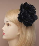 Black Layered Medium Flower Beak Clip/Pin IN9590