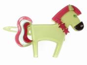 Glitz4Girlz Pony Resin Hair Clip - Green