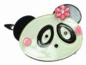 Glitz4Girlz Panda Resin Hair Clip - Pink