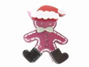 Glitz4Girlz Purple Santa Gingerbread Man Hair Clip