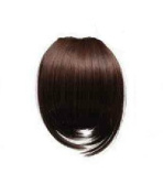 DARK BROWN Clip In On Bang Fringe - High Quality 100% Synthetic Hair Extensions