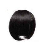 BLACK Clip In On Bang Fringe - High Quality 100% Synthetic Hair Extensions