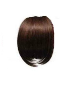 LIGHT BROWN Clip In On Bang Fringe - High Quality 100% Synthetic Hair Extensions