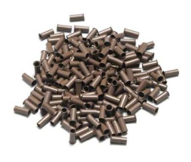 400 Hair Extension Micro Copper Rings Dark Brown