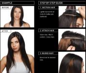 American Dream Quick-Fix Clip In Hair Extensions - 100% Human Hair Colour 12 - Golden Brown