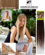 American Dream Quick-Fix Clip In Hair Extensions - 100% Human Hair Colour 6B -Light Golden Brown