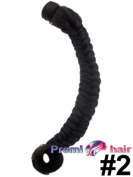 Hairpiece clip in on fishtail 50cm ponytail various colours available