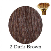 20'' Pre-Bonded Stick Tip Indian Remy Grade A 0.9g #2 Dark Brown