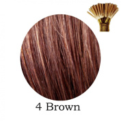20'' Pre-Bonded Stick Tip Indian Remy Grade A 0.9g #4 Brown