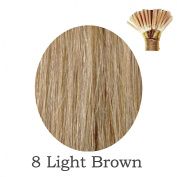 20'' Pre-Bonded Stick Tip Indian Remy Grade A 0.9g #8 Light Brown