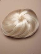 Shropshire Supplies Imitation Fake Hair Bun fixed with drawstring & combs Hair Extension Hairpiece - Platinum Blonde