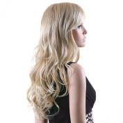 Songmics New Fashion Blond Full Wig Wavy Long Hair 64cm WFF046