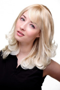 CUTE Lady Quality Wig BLOND MIX blonde CURLED platinum ENDS
