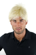 Men's WIG (for Men or Unisex) HIGH QUALITY synthetic short BRIGHT BLOND platinum blonde youthful young look GFW1169-613 Man