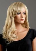 Forever Young Ladies Long Blonde Wig 2 Tone Ash & Platinum Blonde Wig. Premium Vogue Wigs UK