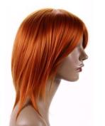Cosplayland C352 - 40cm One Piece Nami red orange Theatre Wig