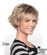 SEXY DATE -Ellen Wille Short Cut Dark Brown Mix Best Price Wig Is Now Available In This Feminine Colour Mid Brown - Number 4 & Light Warm Brown - Number 6 (See Hair Samples Below). This Fashionable Elegant Shorter Colour Style Is Made Of T ..