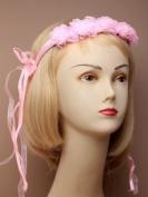 Pink Bridal / Flower Girl Headdress, Headband