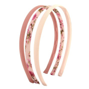 Pack of 3 Headbands, vintage look with beautiful floral print, perfect for girls and young ladies