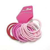 14 Pink & Red Hair Elastics/Bands AJ6065