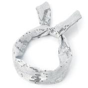 Silver Sequin Wired Headband AJ24945