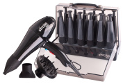Signature Styling ZX803-800 Salon Power Dryer and Spiroll Conical Rollers Set