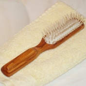 ProPassione Hair Brush Olive Wood, longish, with wood pins, Dimensions