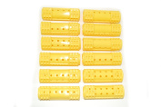 Set of 12 yellow snap on hair rollers. Medium size - 19mm in diameter.
