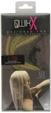 Qwik X 100 Percent Indian Remi Human Hair Tape Hair Extensions Colour 18/ 22 Ash Blonde/ Beach Blonde 41cm