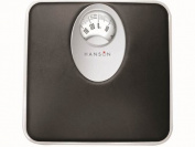 Hanson H61 Blk Mechanical Bathroom Scale with Magnified Display Black