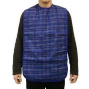 Large Adult Washable Bib/Clothing Protector - BLUE