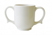 Two Handled Mug Dignity White