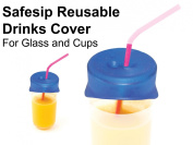 NRS Blue Safesip Drinks Glass and Cups Cover