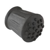 """2 x Walking stick ferrule 19mm (3/4"""") black rubber"""
