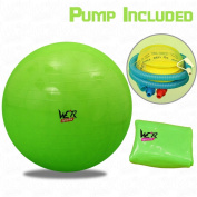 Fitness Exercise Swiss Gym Fit Yoga Core Ball 65CM Abdominal Back Workout - Green