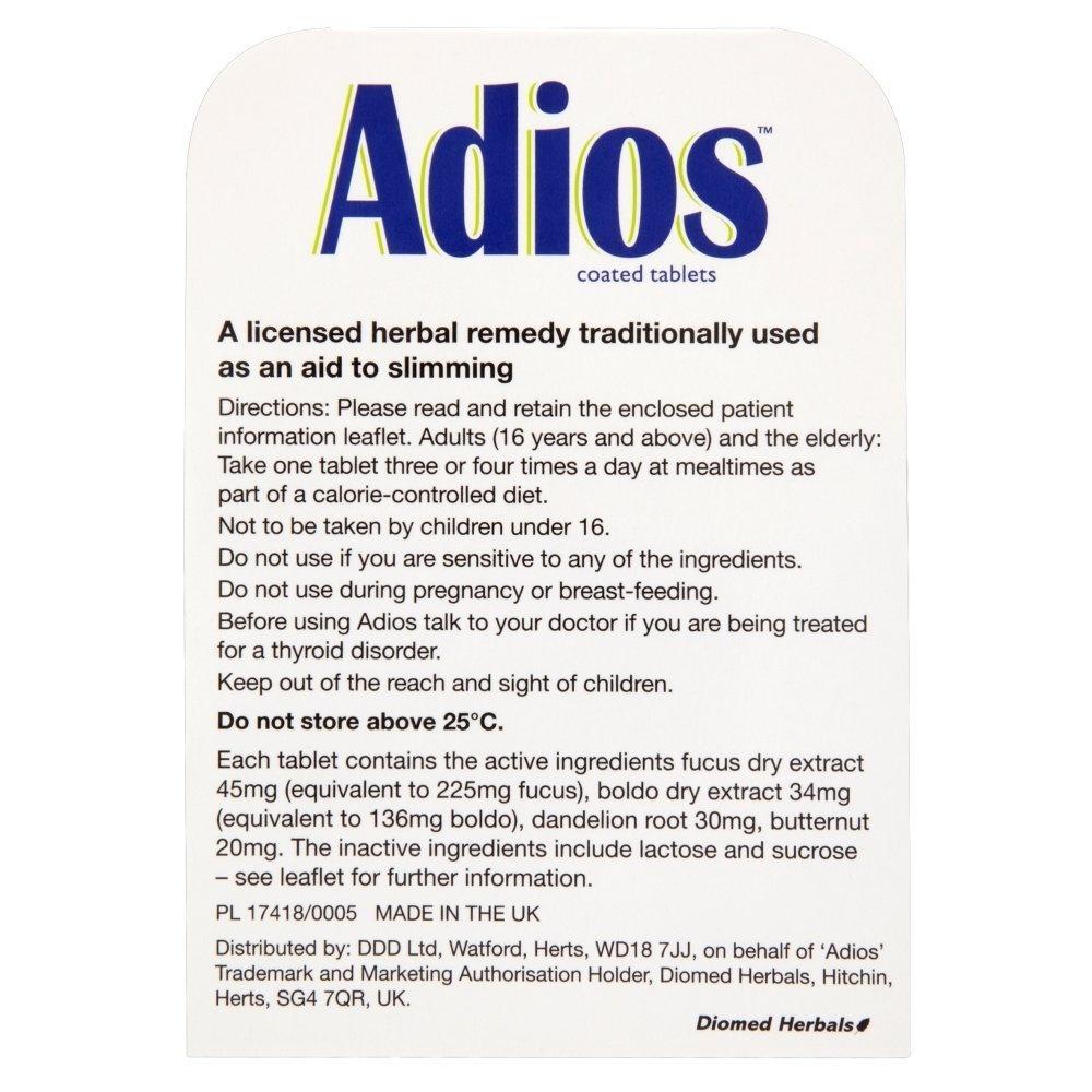 Adios Herbal Tablets 100