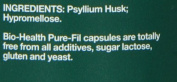 Bio-Health 400mg Psyllium Husks - Pack of 120 Vegetarian Capsules