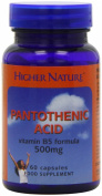 Higher Nature Pantothenic Acid 500mg Pack of 60