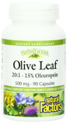 Natural Factors Olive Leaf Extract, 500 Mg, 90 Capsules