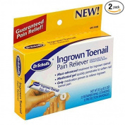 Dr. Scholl's Ingrown Toenail Pain Reliever, 1 Kit, (W/ Gel, 12 Retainer Rings & 12 Protection Bandages)