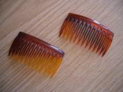 2 x Tortoiseshell Side Combs / Hair Slides